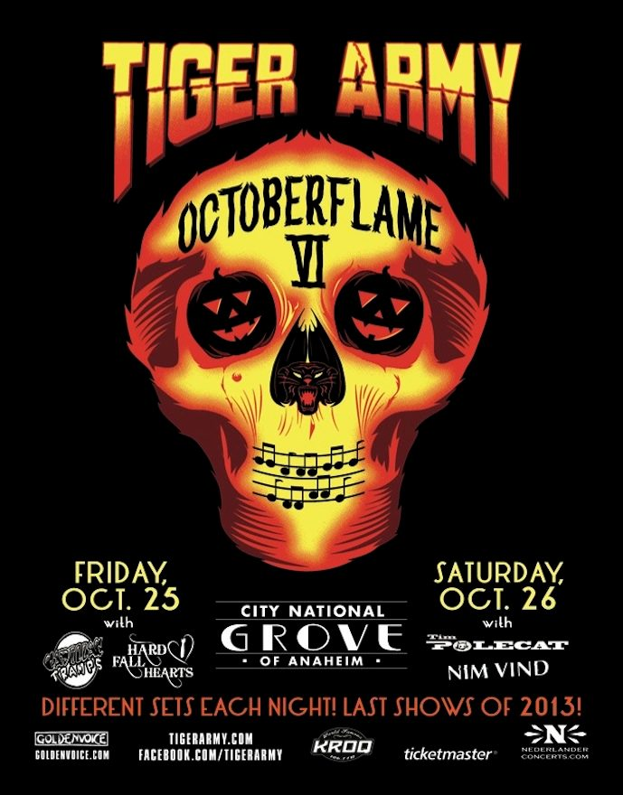 Tiger Army @ City National Grove of Anaheim 10/25 & 10/26