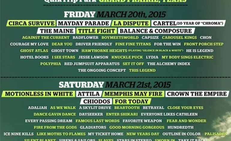 South By So What?! Festival Announces 2015 Lineup Featuring Atreyu, Invent, Animate And Hatebreed