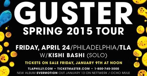 Guster w/ Kishi Bashi @ The TLA 4/24 + Free at Noon @ World Cafe Live 1/16
