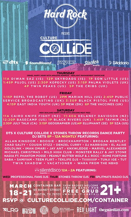 Hard Rock presents Culture Collide SXSW 2015 Parties Announced