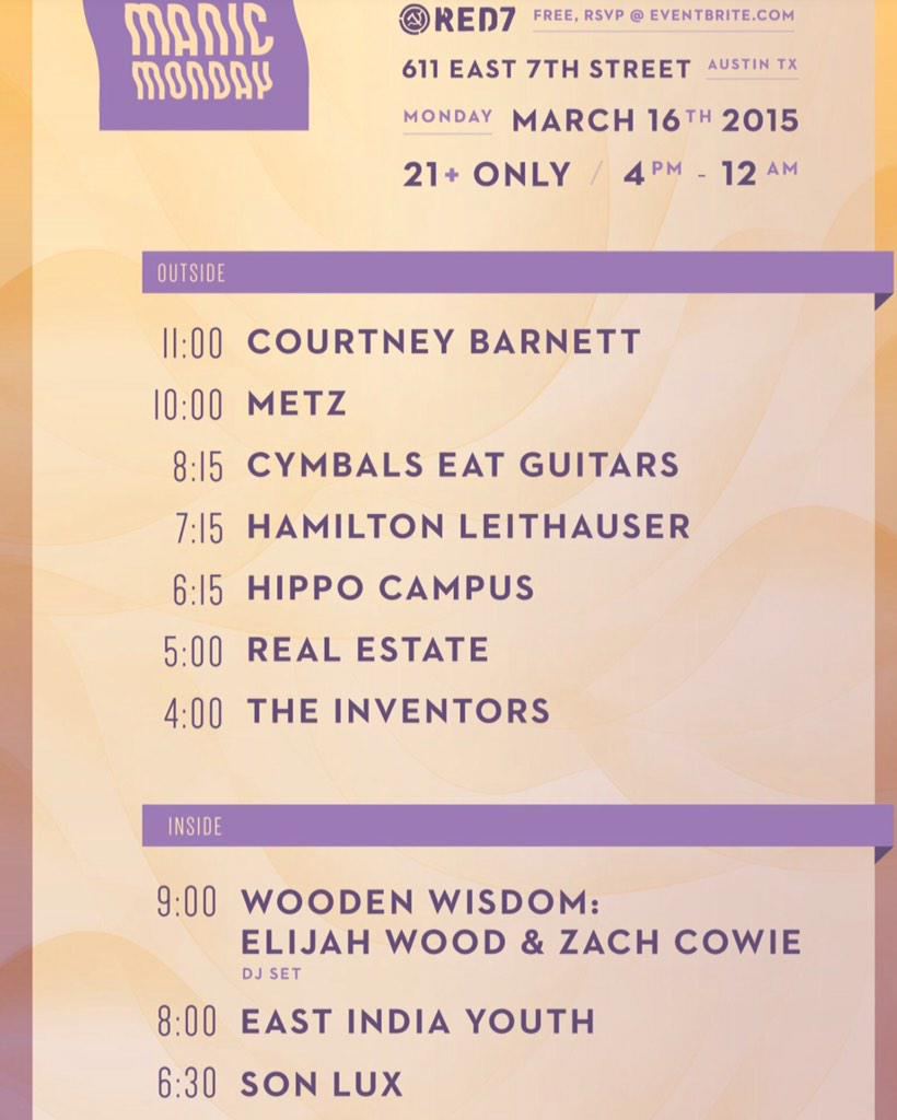 The Onion & A.V. Club SXSW 2015 Manic Monday Party ft. Courtney Barnett