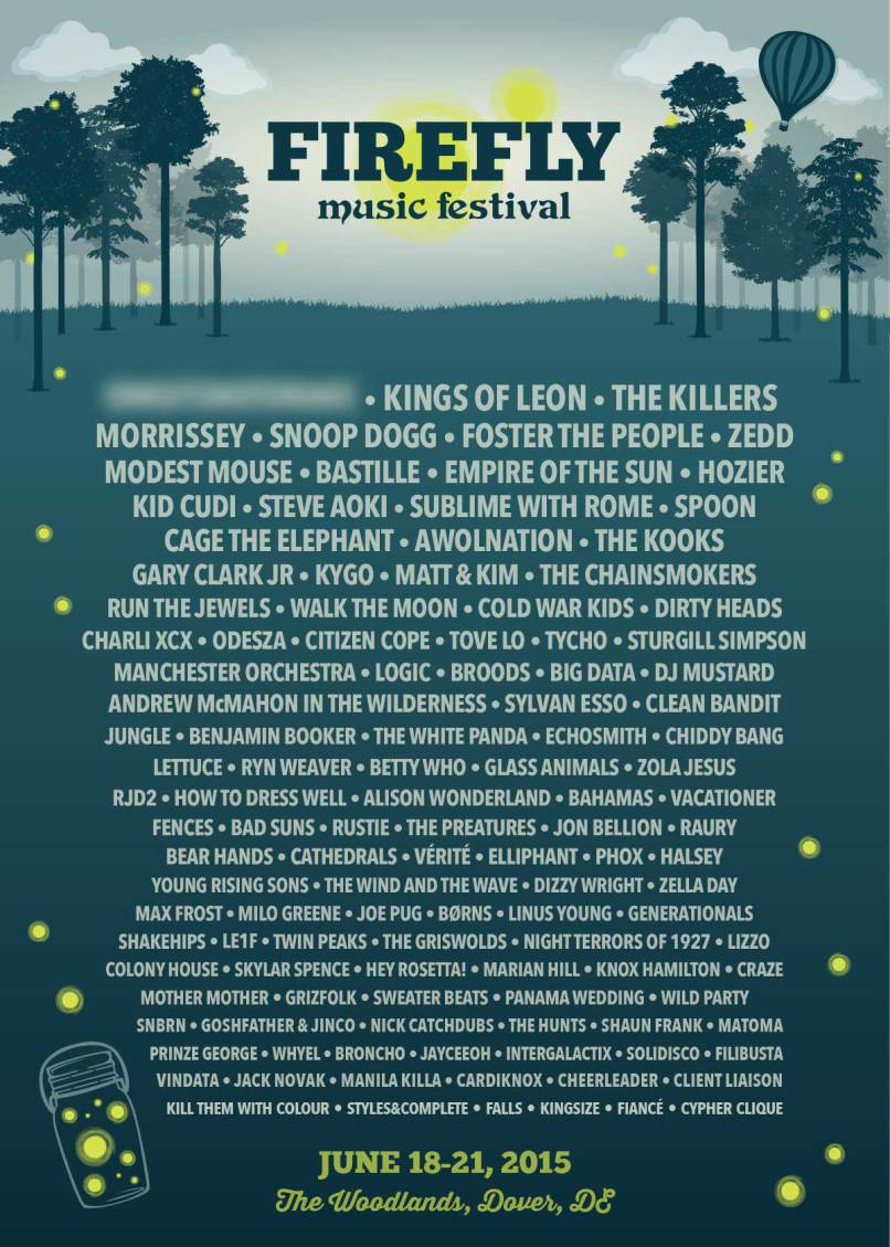 Firefly Music Festival 2015 Lineup Announced Featuring Morrissey, Spoon And Run The Jewels