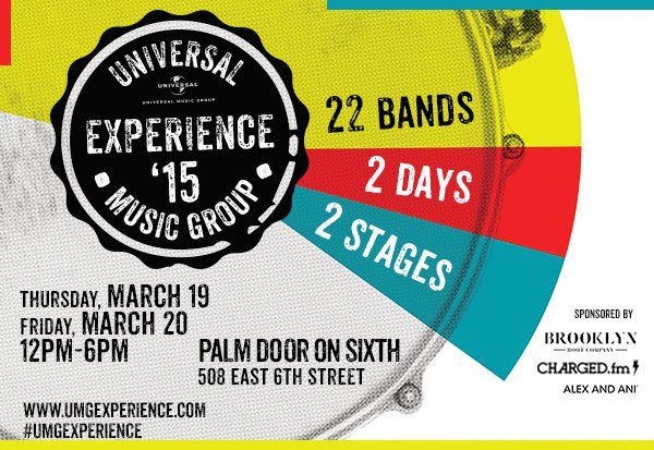 Universal Music Group's SXSW 2015 Day Parties Announced