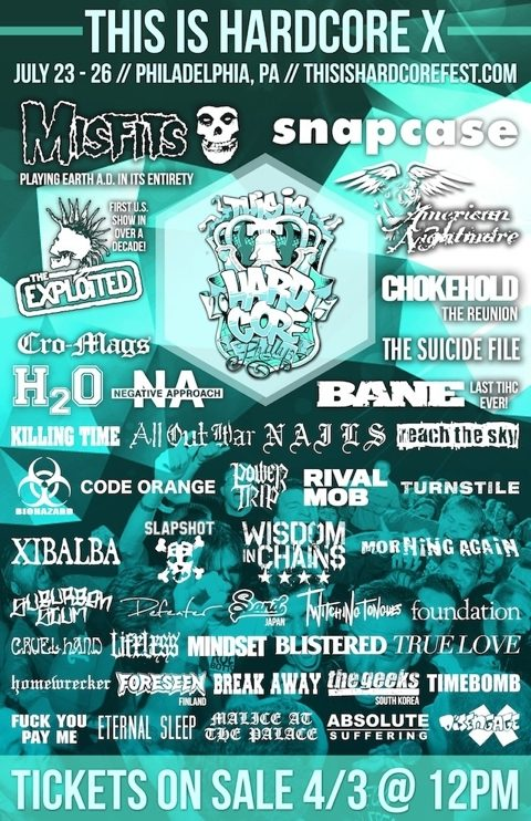 This Is Hardcore 2015 Lineup Announced Featuring Misfits, Snapcase, And The Exploited