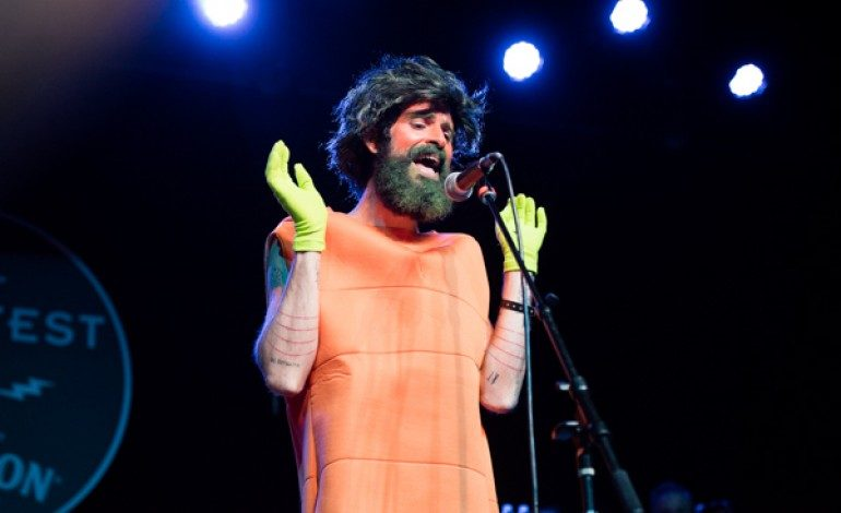 "Devendra Banhart Plays ""Other Flowers"" Show at Arts District Christmas Market"