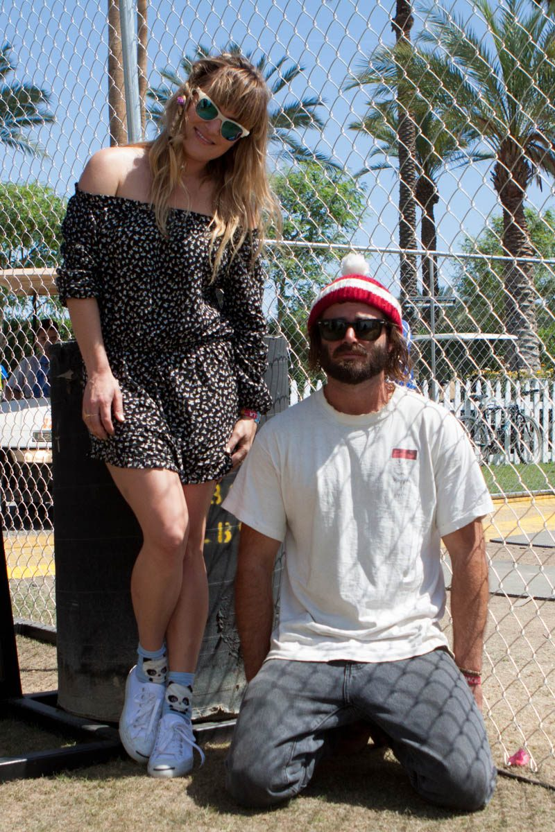 Angus & Julia Stone backstage at Coachella.
