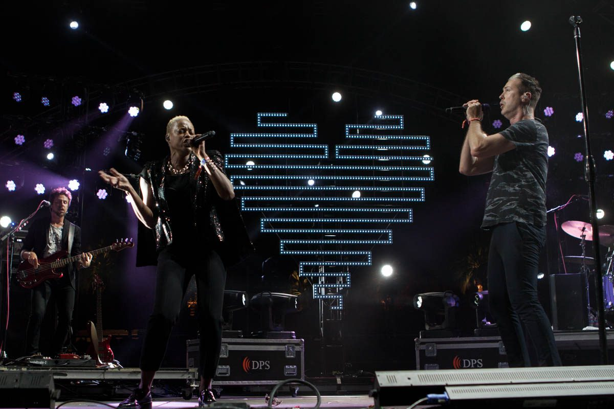 Fitz and The Tantrums won some hearts on the Outdoor Stage.