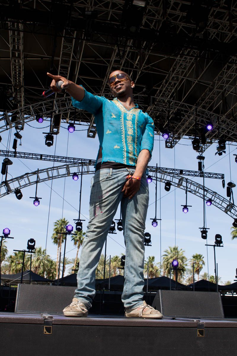 Lil B on a big stage.