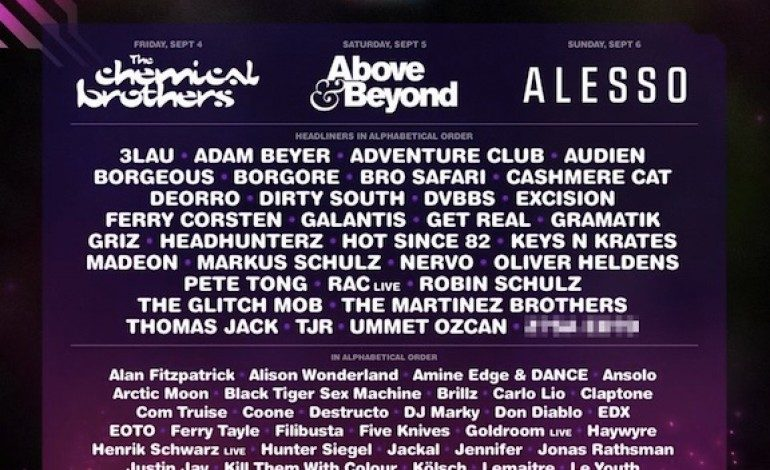 Electric Zoo: Transformed 2015 Lineup Announced Featuring Alesso, The Chemical Brothers And Above & Beyond