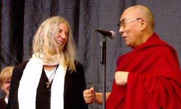The Dalai Lama Joins Patti Smith Onstage At Glastonbury