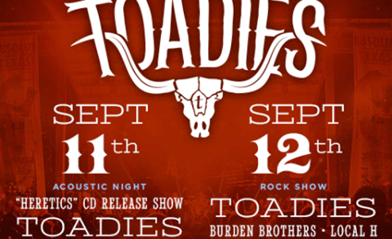 Dia De Los Toadies Fest 2015 Lineup Announced Featuring Acoustic Toadies, Local H And Burden Brothers