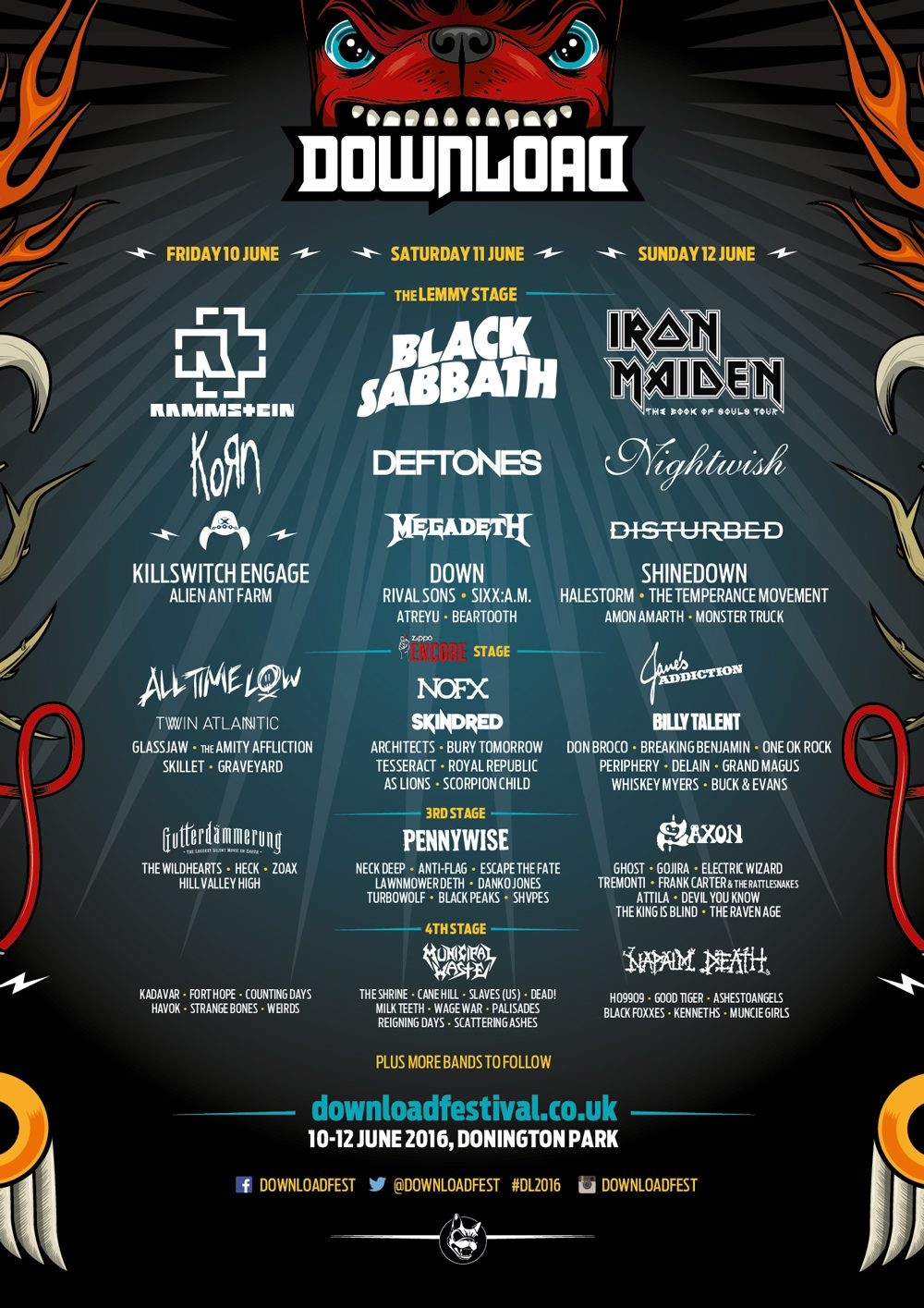 Is download festival 2015 the best line up ever? Hello, terri lowe.
