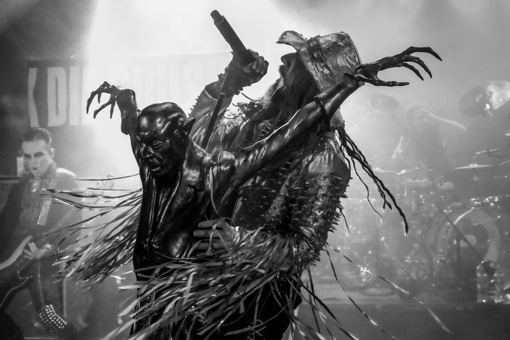 Rob Zombie and his 'Nosferatu' microphone stand