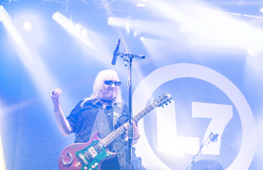 L7 performing at the Granada Theater in Dallas on July 14th 216