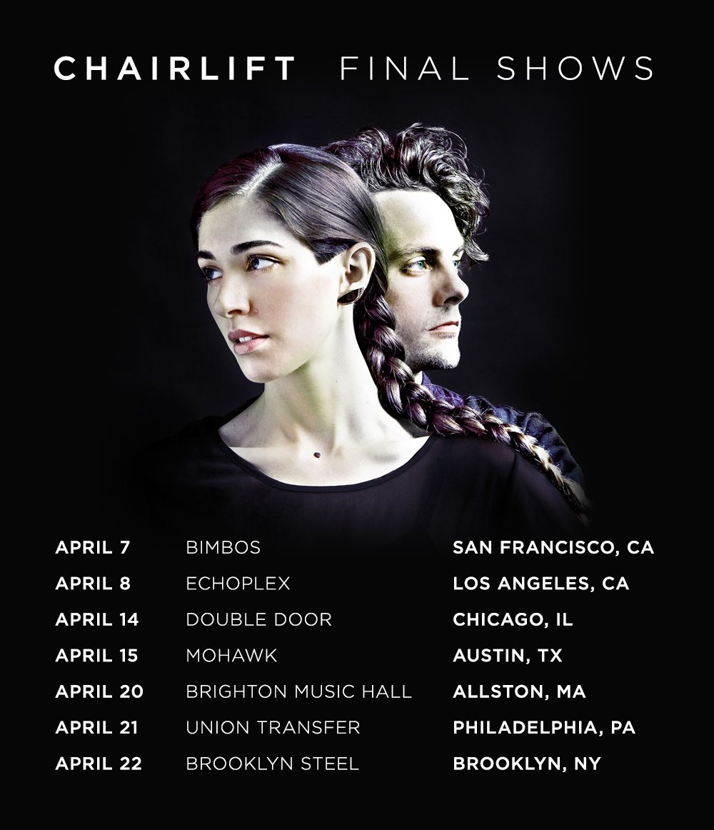 Chairlift Farewell Tour Poster