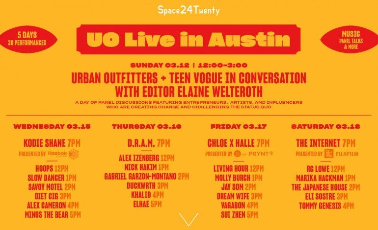 Urban Outfitters Live SXSW 2017 Day Parties Announced ft Internet, D.R.A.M.