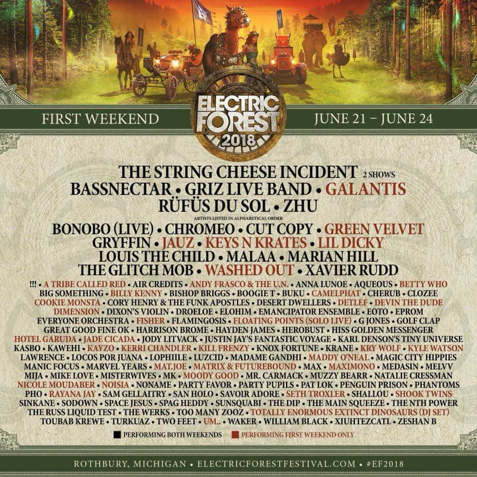 Electric Forest Weekend One Flyer