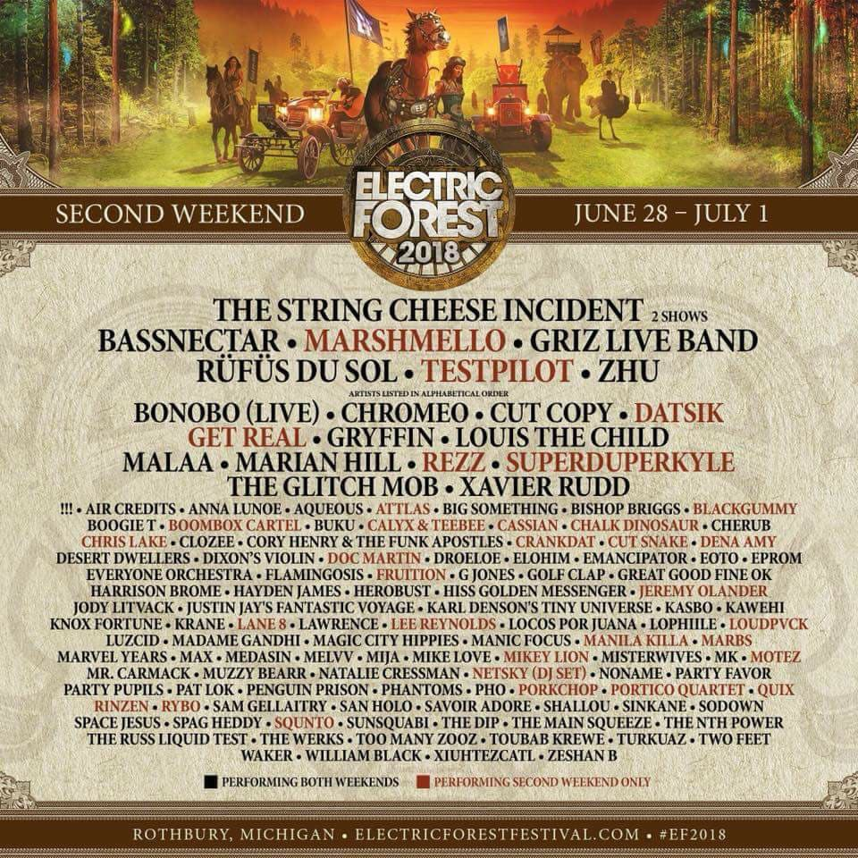 Electric Forest Weekend 2 Flyer