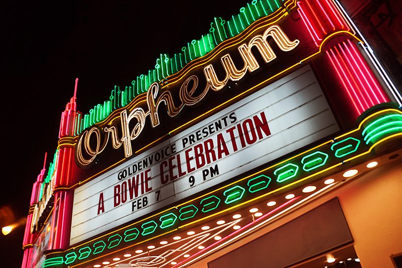 David Bowie Comes To Life at The Orpheum, Los Angeles 2/7