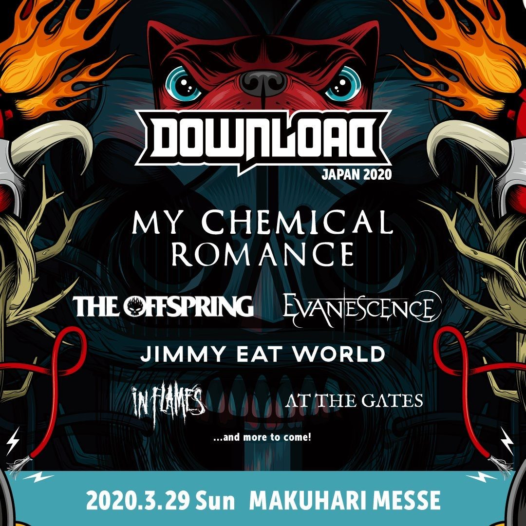 Download Festival Japan Announces 2020 Lineup Featuring My Chemical Romance Evanescence And In Flames Mxdwn Music