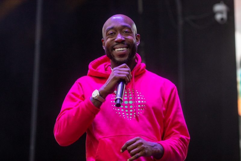 "Freddie Gibbs Joins The Colleagues on Synthy New Track ""Gimme The Loot"""