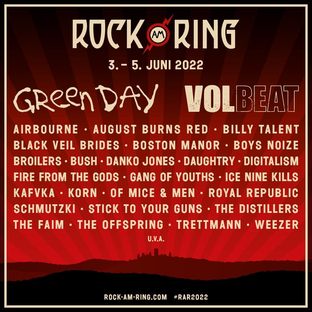 15+ Rock am Ring and Rock im Park Announce 8 Lineup Featuring Green ... Fotografie