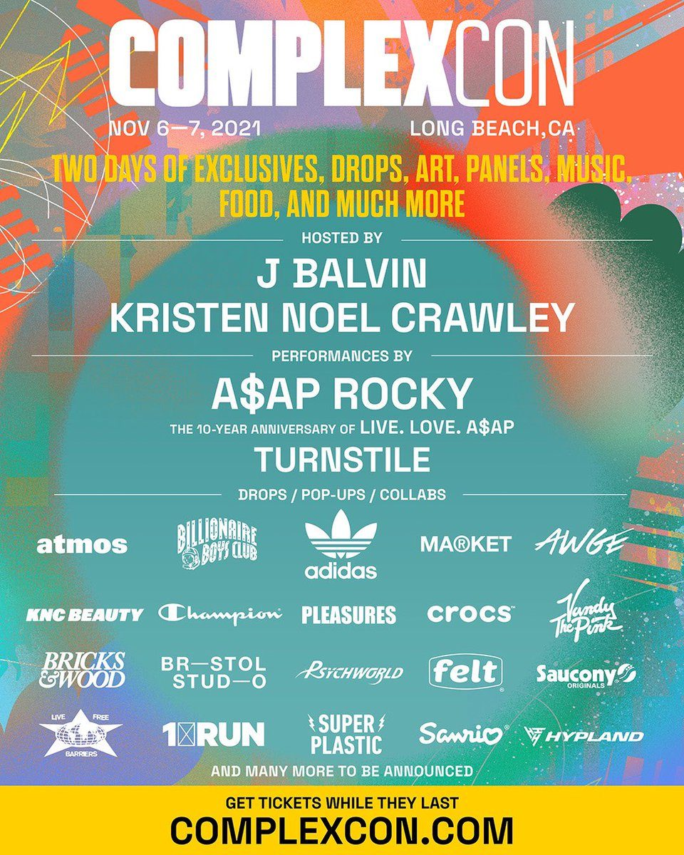 ComplexCon hosted by J Balvin & Kristen Noel Crawley at Long Beach on November 6th & 7th