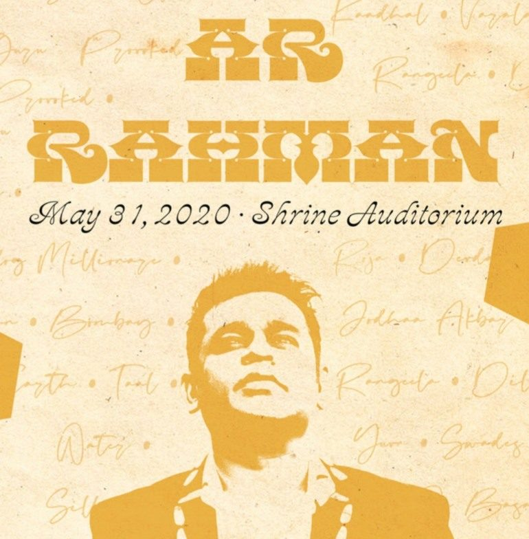 AR Rahman Brings His Musical Storm to The Shrine on 5/31