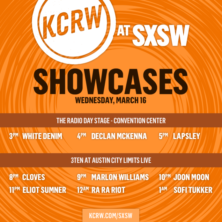 KCRW SXSW 2016 Day and Night Showcases Announced