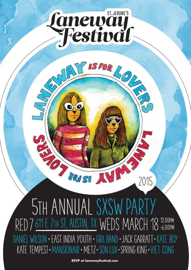 S​t. Jerome's Laneway Festival presents Laneway is for Lovers SXSW 2015 Day Party Announced