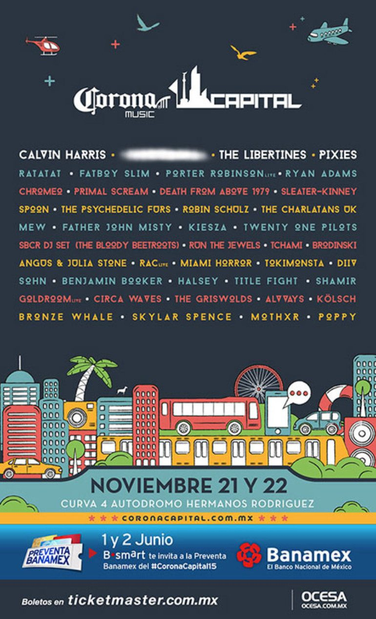 Corona Capital 2015 Lineup Announced Featuring Chromeo, Calvin Harris And Death From Above 1979