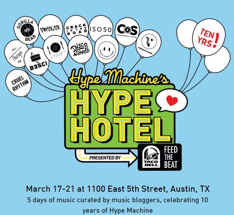 Hype Machine's Hype Hotel SXSW 2015 RSVP Announced